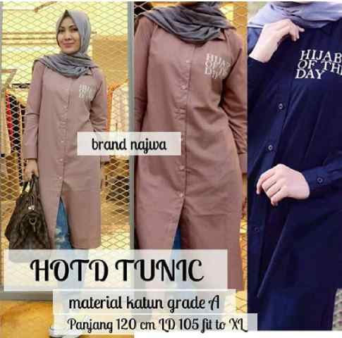 HOTD tunic/ tunik/ top/ Hijab Of The Day