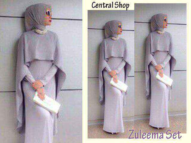 Zuleema/ zulema maxi/ dress/ gaun/ gamis set hijab/ busana muslim