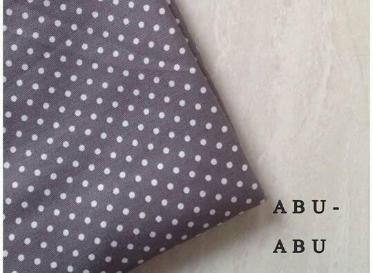 hijab kerudung monochrome polkadot abu pashmina & segiempat