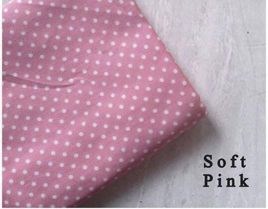 hijab kerudung monochrome polkadot pink pashmina & segiempat