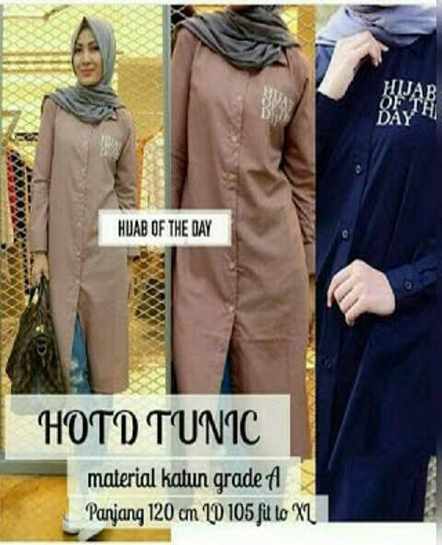 Jual Baju Murah / Grosir Baju / Busana Muslim / Hijab Of The Day Tunic