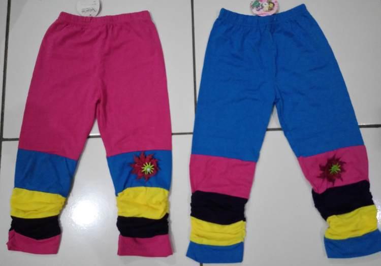 CLKD13 - Celana Legging Anak Stripe Warna Warni Sz.3 Murah
