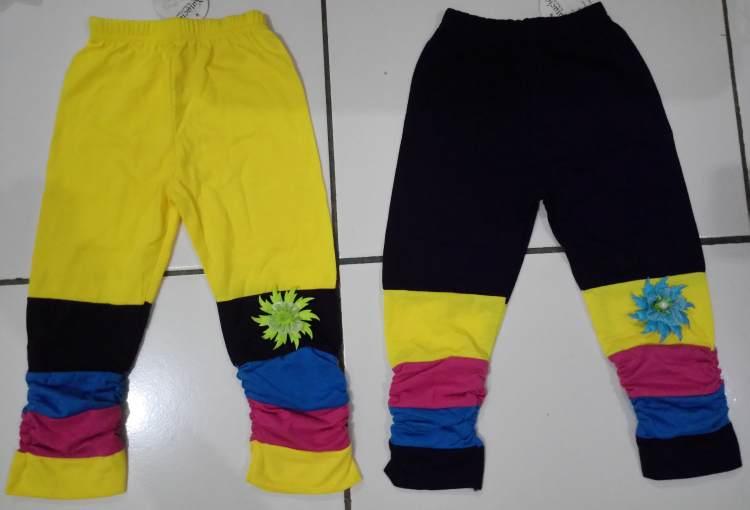 CLKD11 - Celana Legging Anak Stripe Warna Warni Sz.1 Murah