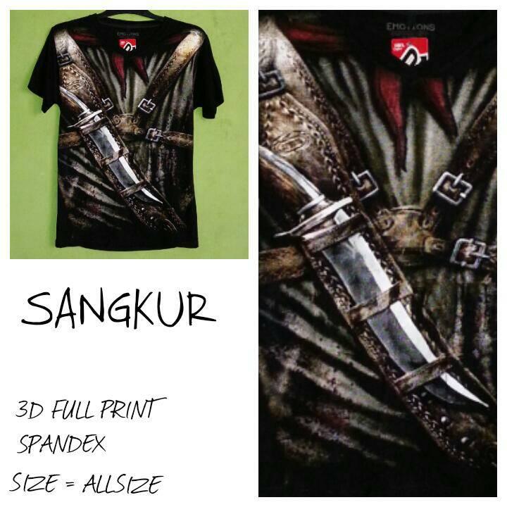 harga Kaos 3D Full Print - Sangkur Tokopedia.com