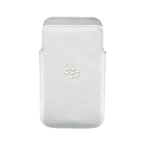 Blackberry Q20 Classic Leather Pouch - WHITE