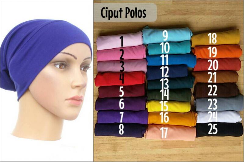 ciput polos bahan spandek rayon / inner ciput dalaman jilbab hijab