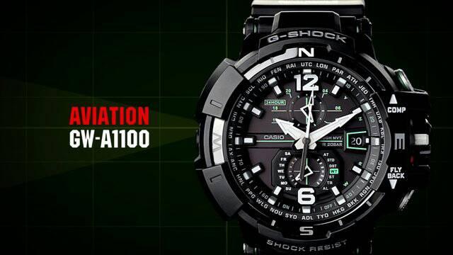 Jam Tangan Pria G-SHOCK GW-A-1100 Full Black / GWN 1100