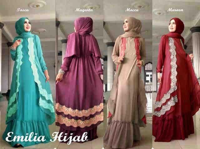 Jual Emilia Hijab Baju Gamis Syar 39 I Gamis Jersey Baju