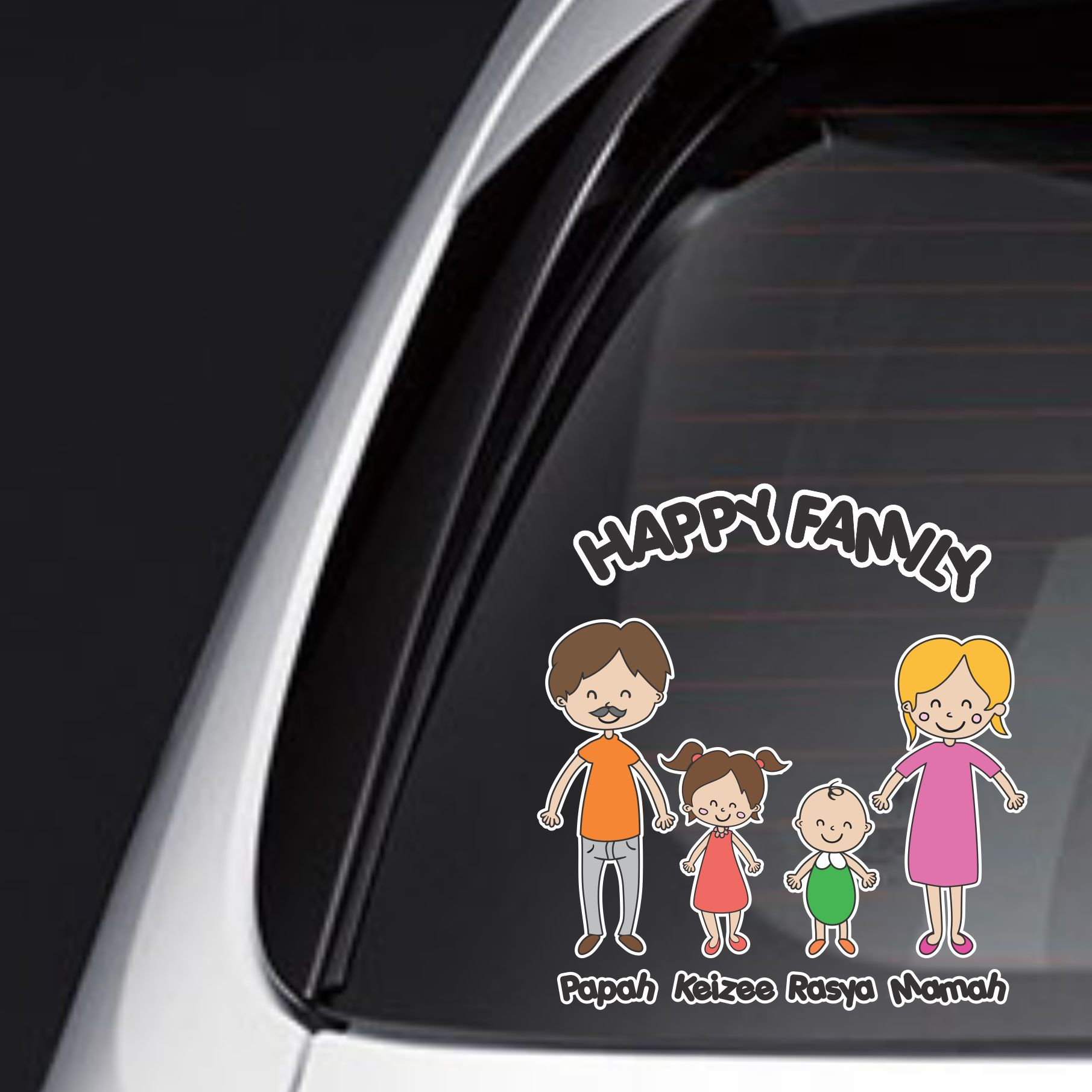 sticker family keluarga anak mobil baby custom sirion jazz FSKPC-030