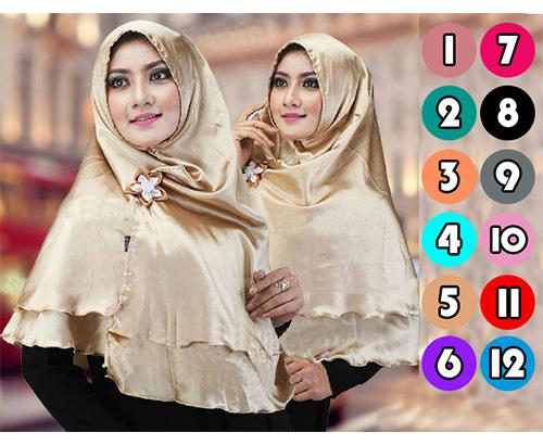 Hijab/Jilbab Khimar Double Velvet