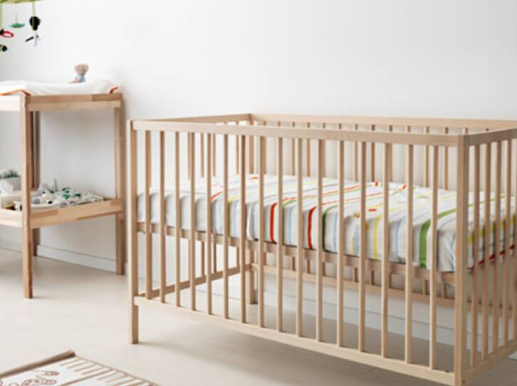 harga ikea sniglar ranjang bayi kayu beech 60x120 cm. Black Bedroom Furniture Sets. Home Design Ideas