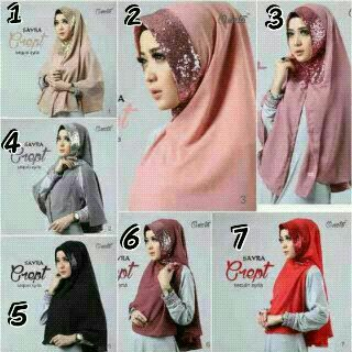 Kerudung / Hijab / Khimar sequeen risty