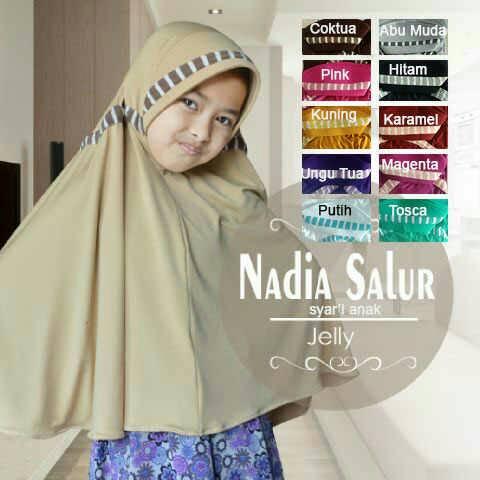 jilbab/hijab anak syar'i Nadia Salur