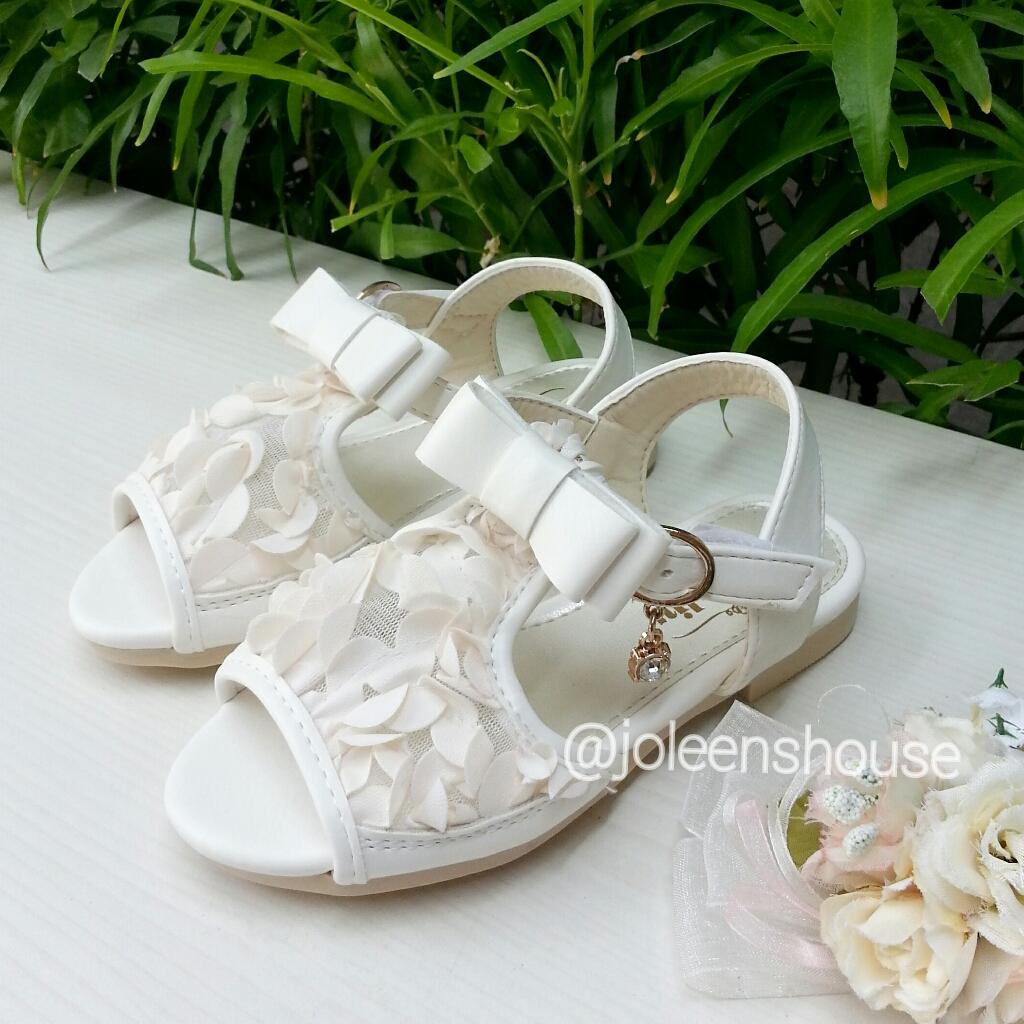 Jual Pretty White Kids Shoes Sepatu Sandal Import Anak Perempuan Putih Joleens House Tokopedia
