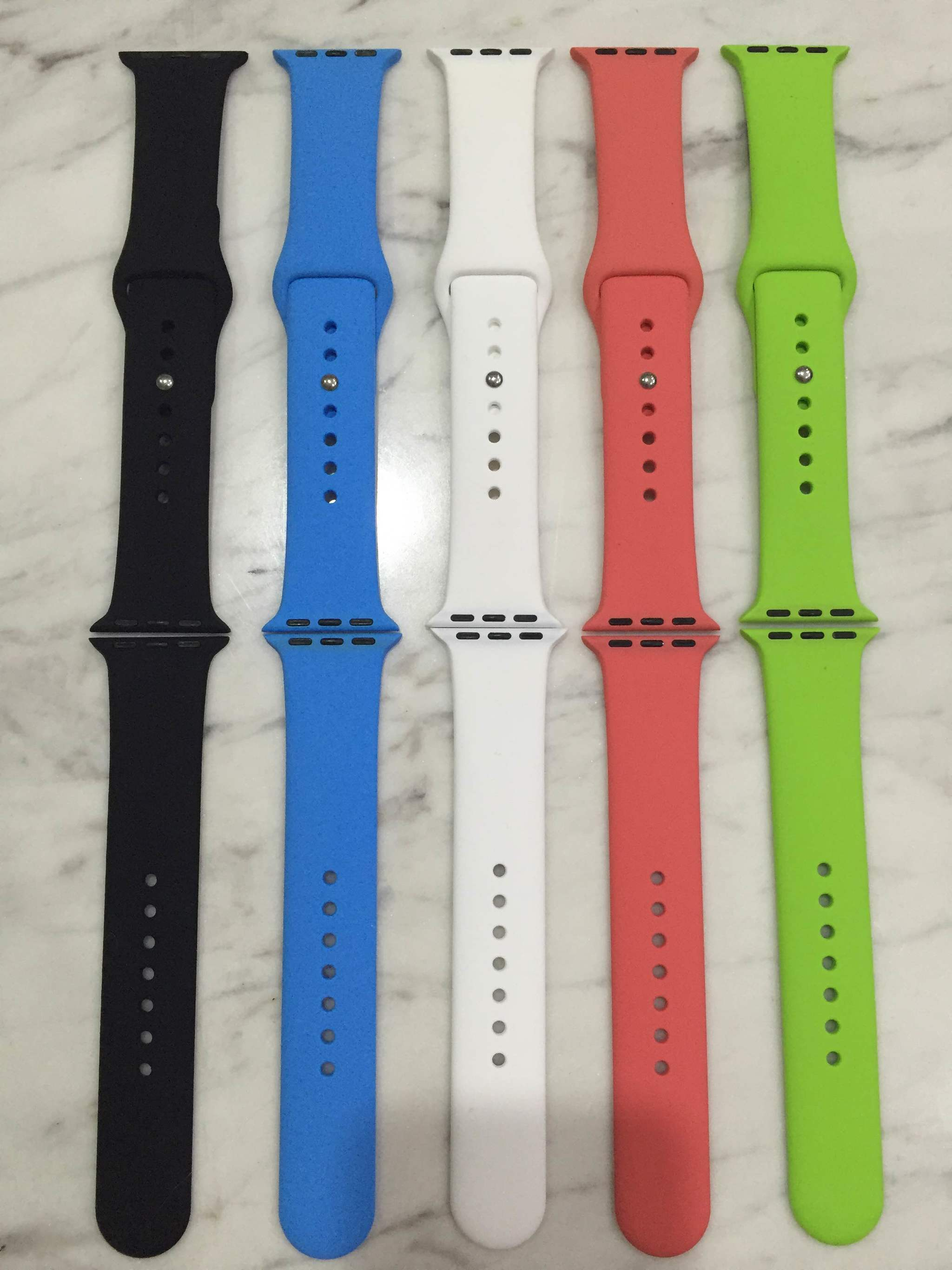 Apple Watch Sport Band 42mm 38mm Black Blue Green White Pink