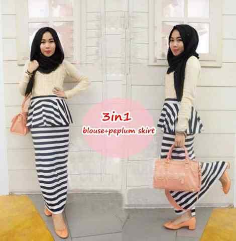 hijab marissa set 3in1