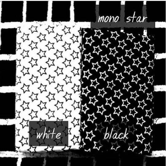 hijab kerudung monochrome bintang putih hitam pashmina & segiempat