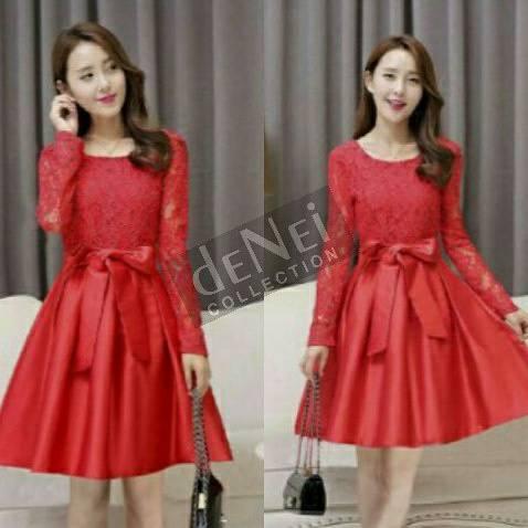 332156_8f0d79fe c72d 4725 8048 f88e2c17d20d jual red dress natal xinmas baju wanita merah modis murah de,Model Baju Wanita Untuk Natal