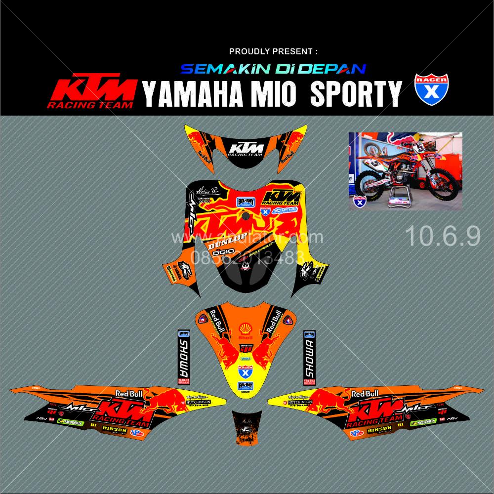 Jual sticker striping stiker motor mio sporty ktm spec b anulator custom tokopedia