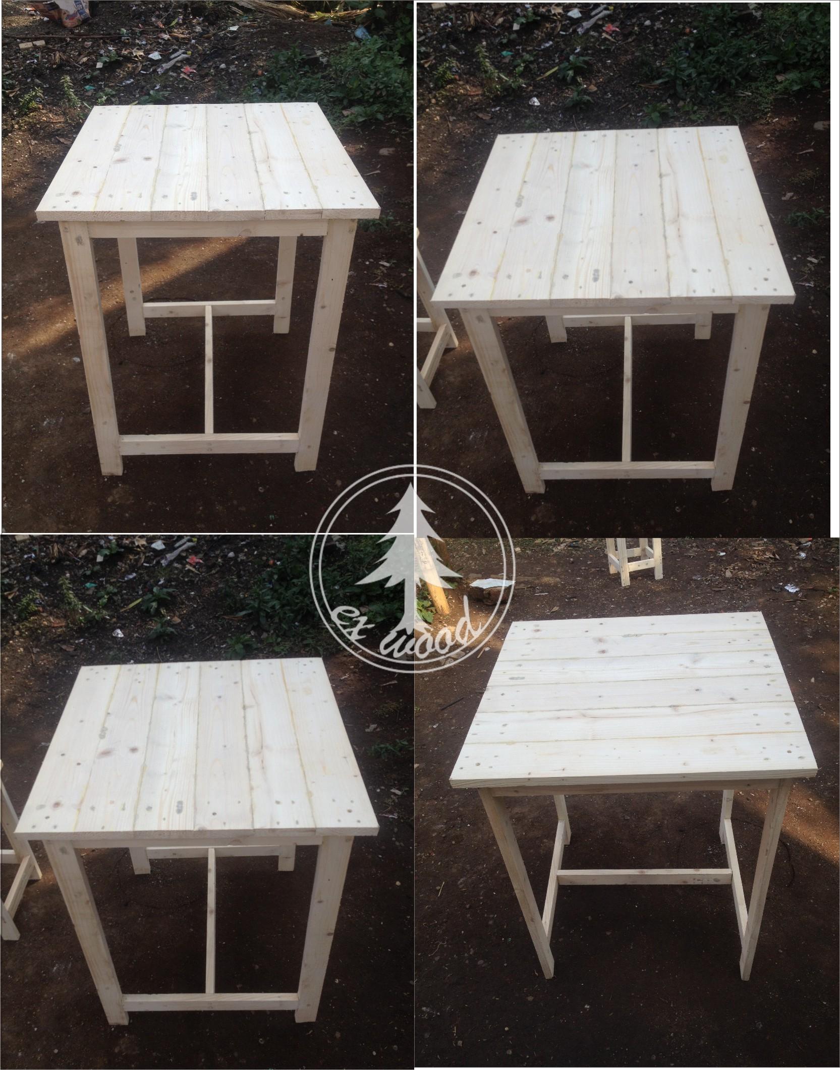 Jual Meja Dari Kayu Pinus Pallet Jati Belanda Wooden Ex Wood Tokopedia