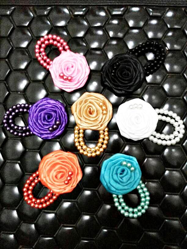bros jilbab bunga pita / kain / bross / brooch / hijab murah cantik