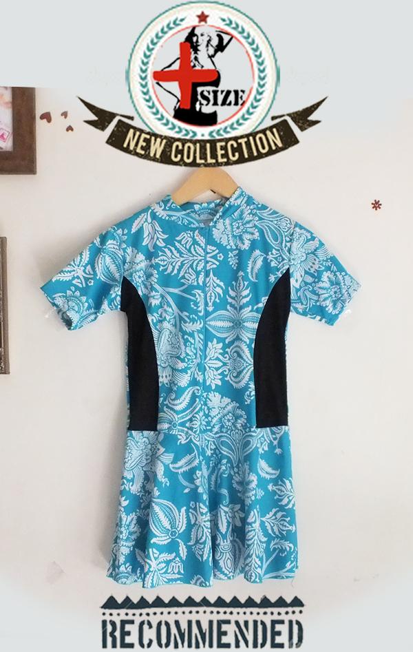 harga 191115swimLEAFXXL FIT L-XXL baju renang wanita big size jumbo swimsuit Tokopedia.com