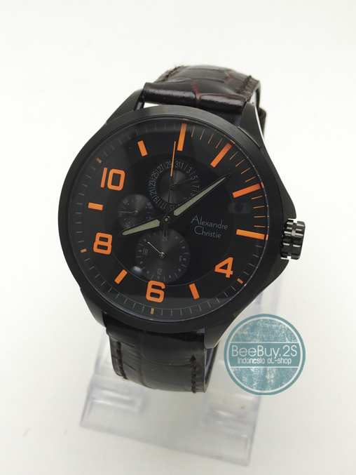 jam tangan Alexandre Christie, AC 6279MF BLK-D.ORN