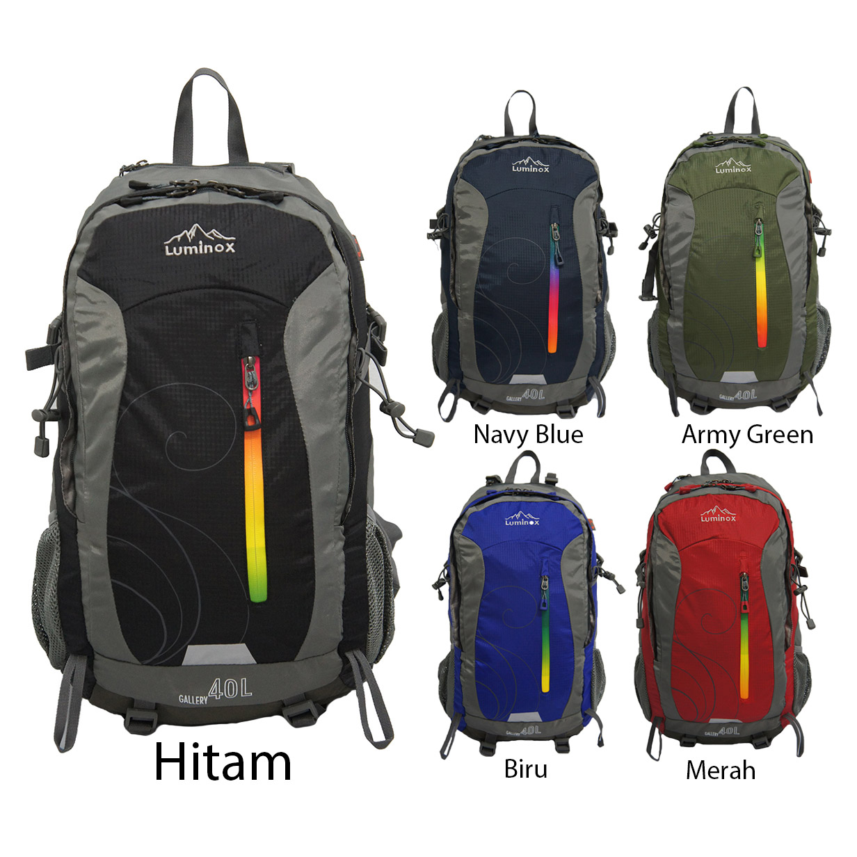 Jual Tas Luminox 5027 - 40L/Ransel/ Hiking Backpack (Free rain Cover)