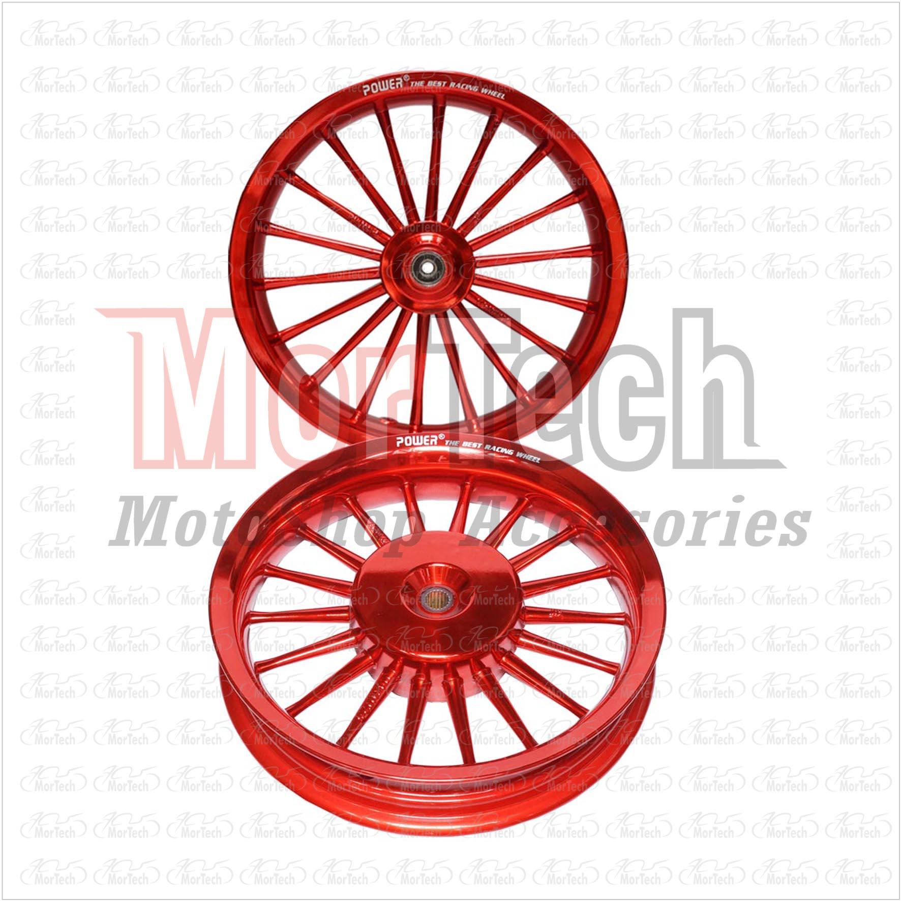 Velg Racing Tapak Lebar Power Classic Vario 110 Palang 18 Merah