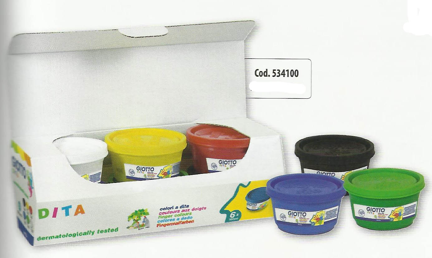 Giotto Finger Paint 6x100 Ml SET