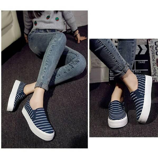 harga sandal sepatu flat wanita cantik biru Tokopedia.com