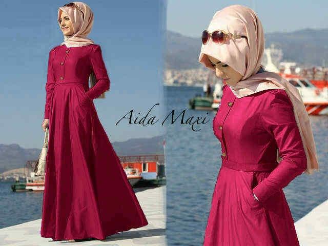 Hijab Aida Fanta Denim ( maxi + pashmina )