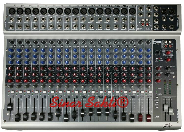 harga Mixer PEAVEY PV 20 USB  ( 20 Channel ) ORIGINAL Tokopedia.com