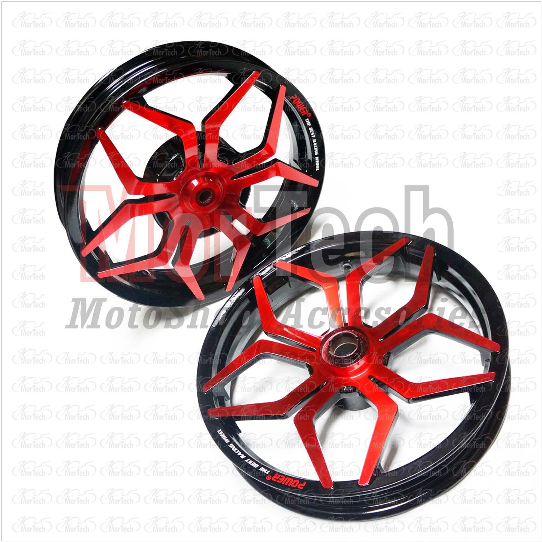 harga Velg Racing Lebar Power Spider Mio Smile Palang 5 Merah Hitam Tokopedia.com