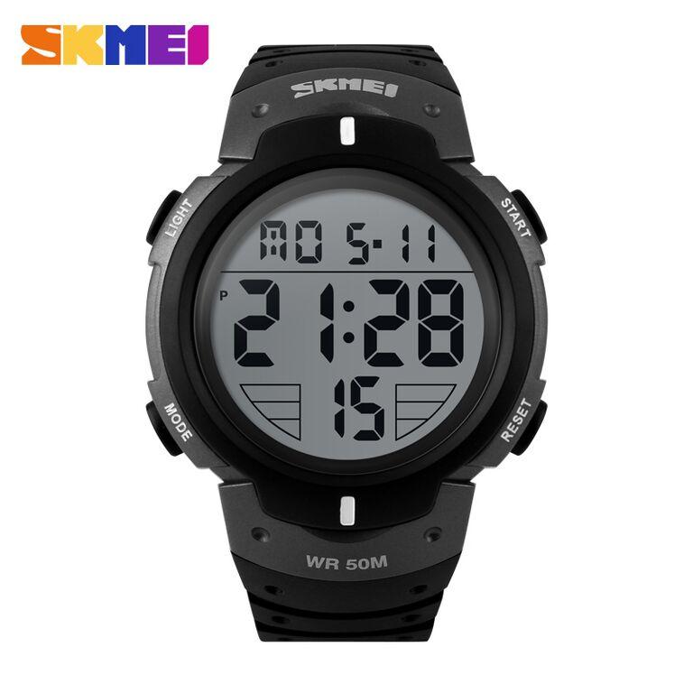SKMEI Pioneer Sport Watch Water Resistant 50m DG1068 Black/Silver 1068