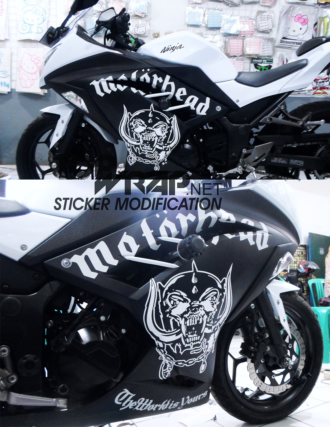 Jual cutting sticker motor ninja raedy custom stiker modifikasi