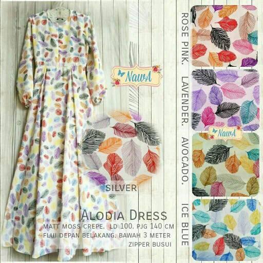 SUPPLIER HIJAB ORI : Alodia dress ori Nawa