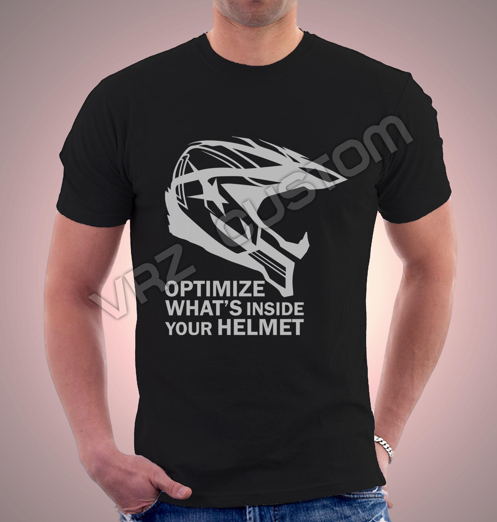 Design t shirt motocross -  Kaos T Shirt Motocross Helmet Design By Vrz