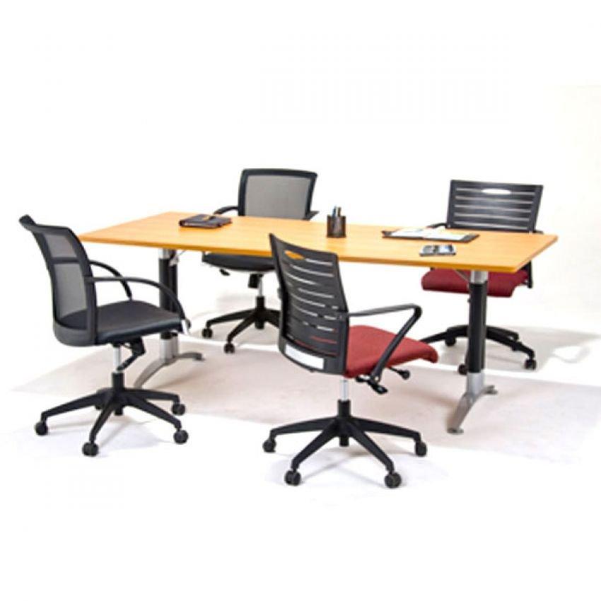 meja meeting aditech kaki besi ukuran 200x100cm