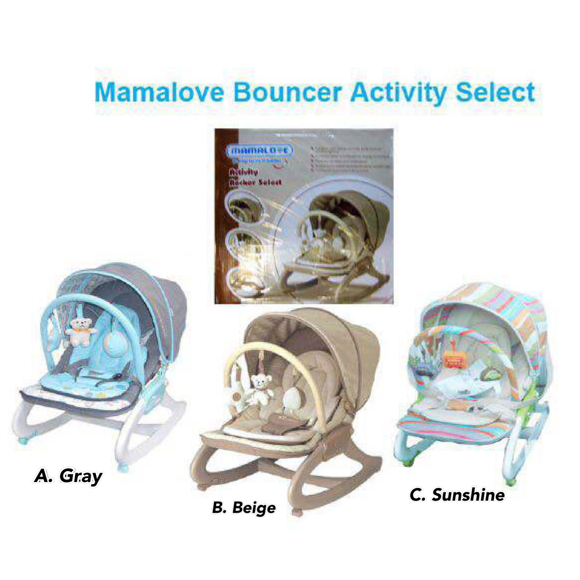 Mamalove Activity Rocker - Mamalove UC40 Baby Bouncher