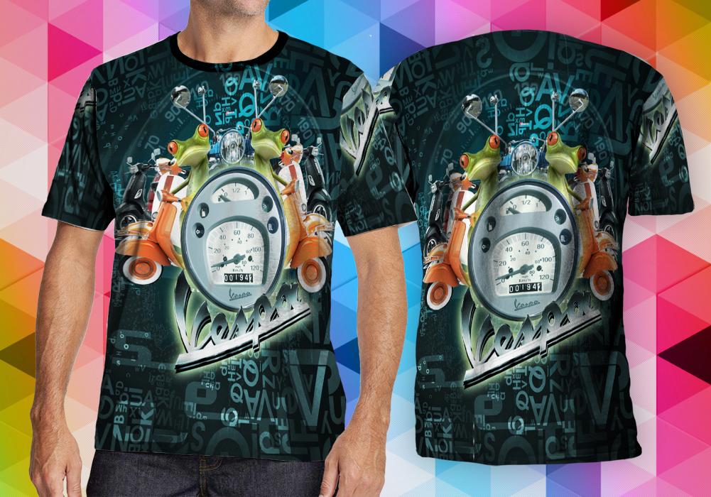 harga Vintage Vespa Speedometer Graffiti Fullprint Tshirt Size M Tokopedia.com