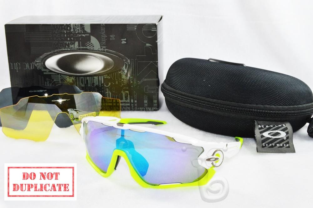 Kacamata Wanita / Pria Sunglass Oakley Sport (sepeda) Jawbreaker Putih