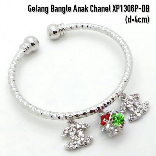 harga XP1306P-DB Gelang Bangle Anak Chanel Perhiasan Lapis Emas Putih Tokopedia.com