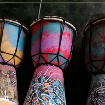 Djembe Jimbe Alat Musik Tradisional Khas Jember Ukuran Ting Murah Yuk