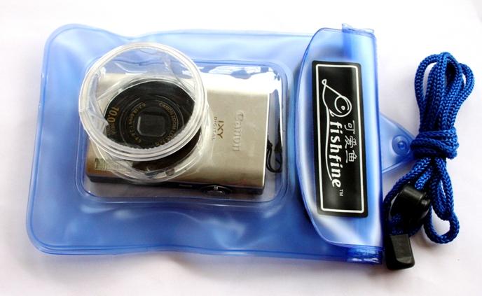 harga Fishfine Waterproof Camera Case - Kamera Poket - Blue Tokopedia.com