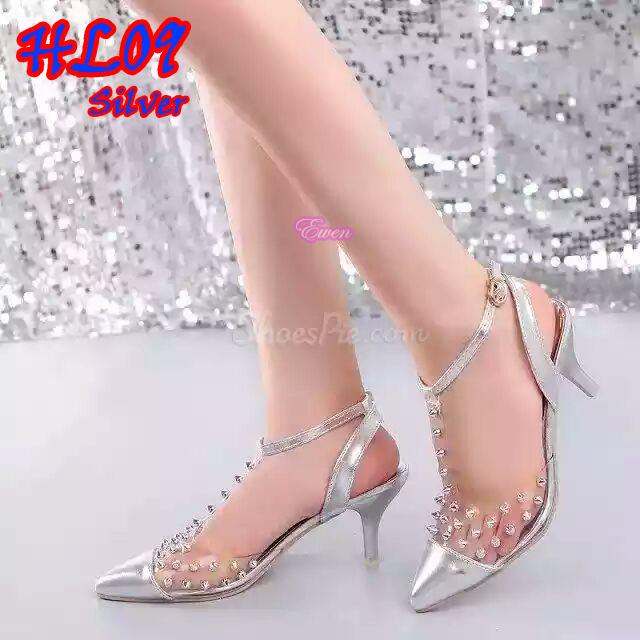 harga Sepatu Heels HL 09 Silver 9cm Tokopedia.com