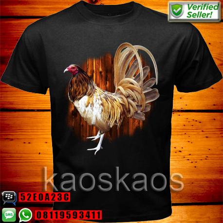 Kaos Ayam Bangkok Coklat