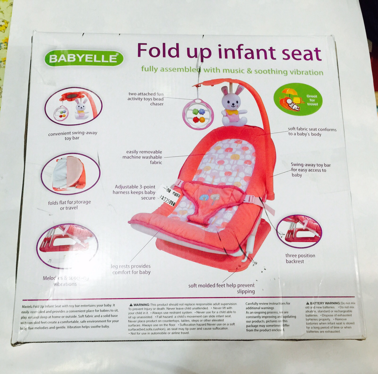 Melodies And Source Jual KURSI LIPAT BAYI Babyelle Fold Up Infant Seat kenichi .