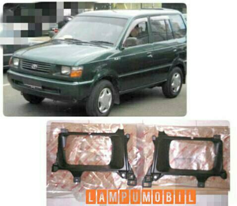 Bezel Garnish Lampu Depan Set Toyota Kijang Kapsul 1996-2001 Original