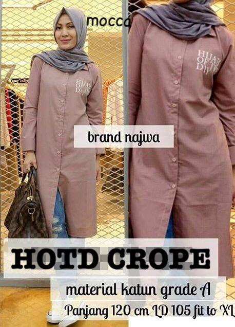 HOTD crope/ Hijab Of The Day top/ blouse/ kemeja/ tunik/ tunic dusty